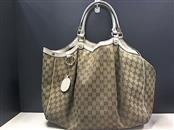 GUCCI Handbag LARGE SUKEY BROWN TOTE BAG